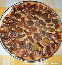 Tarte aux quetsches Food And Drink, Pizza, Pepperoni, Fruit, Cooking, Alsace Lorraine, Quiches, Pastries, Biscuits