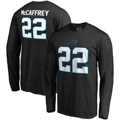 Christian McCaffrey Carolina Panthers NFL Pro Line by Fanatics Branded  Authentic Stack Name   Number Long Sleeve T-Shirt – Black 9031b831b