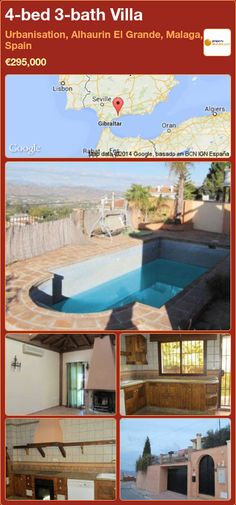 4-bed 3-bath Villa for Sale in Urbanisation, Alhaurin El Grande, Malaga, Spain ►€295,000