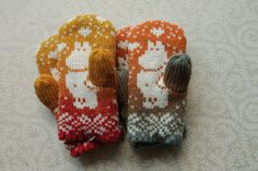 Exclusive hand-made children mittens.