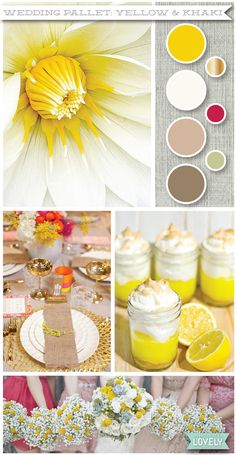Yellow and khaki wedding color pallet inspiration, Wouldn't it be Lovely