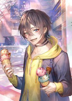 Goin date with Adek Manga Boy, Anime Manga, Anime Art, Handsome Anime Guys, Cute Anime Guys, Anime Boys, Mc Lb, Anime Friendship, Boy Illustration
