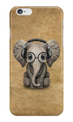 'Cute Baby Elephant Calf with Reading Glasses on Blue' Art Print by jeff bartels Cute Baby Elephant, Elephant Art, Elephant Wedding, Cute Baby Animals, Funny Elephant, Elephant Stuff, Elephant Tattoos, Elephants Never Forget, Elephant Illustration