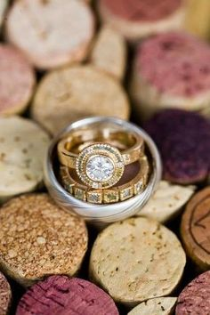 Todd Reed engagement ring and wedding band.