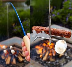 Campfire Fishing Rod Makes Roasting Stuff Infinitely More Fun
