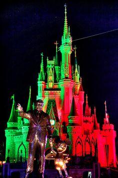 Haunted Cinderella Castle | Daily Disney Photos Disney World Theme Parks, Disney World Florida, Disney World Resorts, Walt Disney World, Disney World Halloween, Scary Halloween, Halloween Party, Trevi Fountain Rome, Famous Castles