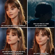 """*spoiler alert*--Moffat loop--Listen: """"And one day, you're going to come back to this barn, and on that day you are going to be very afraid indeed. But that's OK. Because if you're very wise and very strong, fear doesn't have to make you cruel or cowardly. Fear can make you kind."""""""