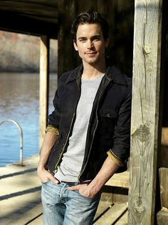 Log cabin and a Matthew Bomer .... *that* is what dreams are made of.