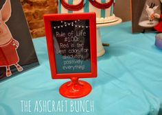 Olivia the Pig Birthday Party   Rule of Life Signs   The Ashcraft Bunch Blog