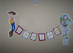 Toy Story Party Banner - Other Crafts - Cricut Forums My Son Birthday, Toy Story Birthday, 4th Birthday Parties, Birthday Ideas, Festa Toy Story, Toy Story Party, Party Names, Cricut Cuttlebug, Festa Party