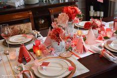 Valentine's Day Decor | Valentine Table Setting | My Creative Happy