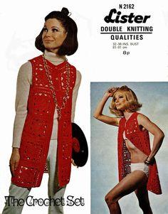 Vintage Ladies Coat Crochet Pattern 1960 PDF by LittleJohn2003