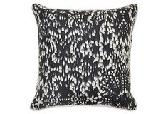 Whimsical 22x22 Cotton Pillow, Black on OneKingsLane.com
