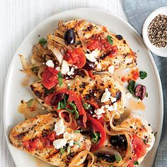Greek-Style Chicken Breasts Recipe | MyRecipes.com