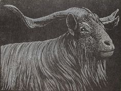 Barry Moser. The Scapegoat, 1999.  Wood engraving.