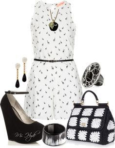 """""""Black and white"""" by mshyde77 on Polyvore"""