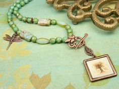 Tree Of Doors Necklace ~ Free design idea from the Artbeads Learning Center