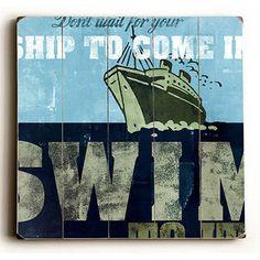 Ship Wood Sign