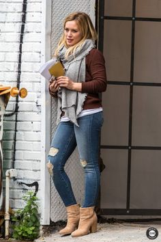 Brown sweater tan vince camuto boots!