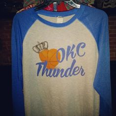 okc thunder thunder basketball Oklahoma city by Rocknmamadesigns Thunder Thunder, Oklahoma City, Basketball, Rock, My Style, Trending Outfits, Sweatshirts, Etsy, Design