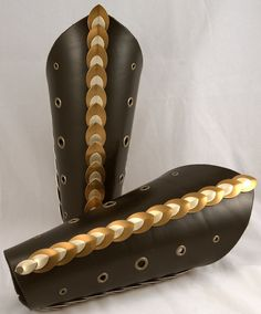 Bronze Dragon Scale Leather Bracers by ArmouredWolf907.deviantart.com on @DeviantArt - - - - Nimue