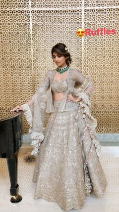 If the top was in a classic cut with a simple dupatta, then yes! Indian Designer Outfits, Designer Dresses, Designer Lehanga, Indian Dresses, Indian Outfits, Lehnga Dress, Lengha Choli, Lehenga Designs, Traditional Outfits