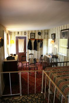 Room where Abraham Lincoln died, Petersen House, Washington, D.C.