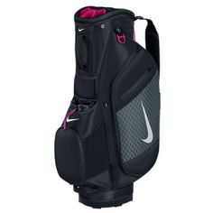 NIKE SPORT CART III. VERSATILE STORAGE. CONVENIENT CARRYING. The Nike Sport Cart III Golf Bag has various specialized compartments to keep essential items easily accessible during your round. Made of durable, lightweight material, this bag helps protect your gear without weighing you down. BENEFITS  Fourteen-way, dual-sided top for convenience Fleece-lined pocket to keep valuables secure and protected Dual, full-length apparel pockets for …