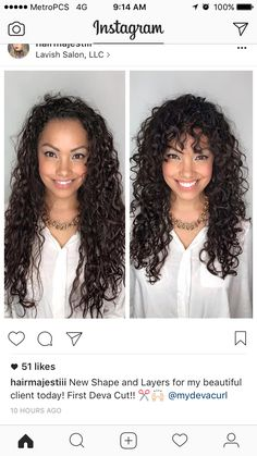 Long Curly Layered With Bangs
