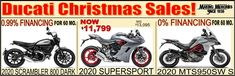 Christmas is coming! We bring you the Ducati Sale! #FinancingAvailable #DucatiMotorcycles Ducati Models, New Ducati, Ducati Motorcycles, Models For Sale, Supersport, Scrambler, New Model, Christmas Sale