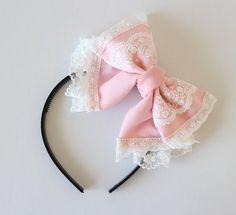loita fairy kei kawaii pink chiffon luffle lace by MasumiBoutique, $15.00: