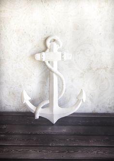 Large Anchor Wall Decor metal anchor decor - wall mounted anchor - anchor sculpture
