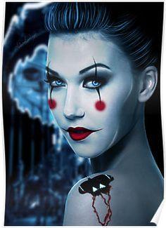 makeup & circus theme -- I like the makeup idea of this.