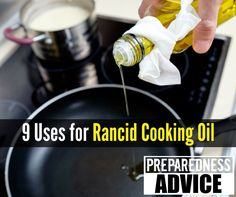 Learn some alternate uses for rancid cooking oil instead of just throwing it away. Rancid oil still has many uses and should not be wasted. Survival Food, Survival Tips, Survival Skills, How Do You Clean, Oil Storage, Cooking 101, Disaster Preparedness, Food Hacks, Helpful Hints