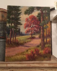 A personal favorite from my Etsy shop https://www.etsy.com/listing/245237488/vintage-landscape-oil-on-canvas