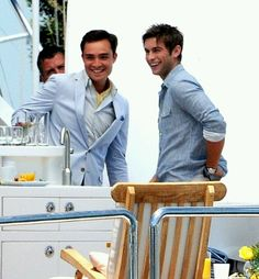 Ed Westwick (Chuck Bass) and Chace Crawford (Nate Archibald)