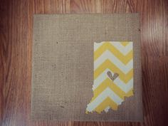 12x12 Indiana State Chevron on Burlap by BeccasBitsandPieces, $40.00