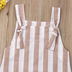 Pudcoco Summer Toddler Baby Girl Clothes Sleeveless Striped Strap Dress Casual Pockets Summer Sundress – zoomcart Baby Frock Pattern, Frock Patterns, Casual Summer Outfits, Casual Dresses, Kids Outfits, Dress Anak, Princess Dress Kids, Girl Sleeves, Dresses Kids Girl