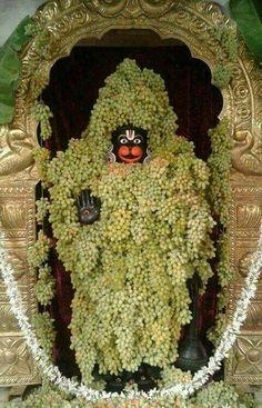Hanuman with decoration of grapes