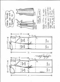 Patrón para hacer un vestido de tubo recto - Patrones gratis