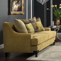 Viscontti+Loveseat+(Gold)