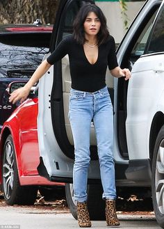 Such a stylish lady: On Saturday, Jenna Dewan did not disappoint while unloading items from her SUV in Los Angeles