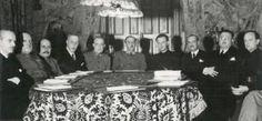 Spain - 1938. - GC - Primer Gobierno de Franco, nombrado en 1938. El coruñés Severiano Martínez Anido es el segundo por la izquierda, al lado de Serrano Súñer.
