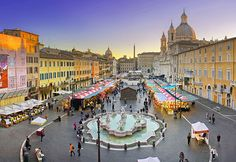 Piazza Navona, Rome -my favorite place in the city - a wonderful spot to hang out and drink espresso!