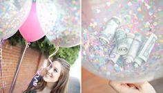 Ballon gevuld met geld