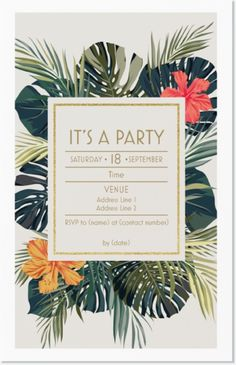 "Why You'll Love Green Palm Leaf Vertical Flat Invitations - 5""x7"""