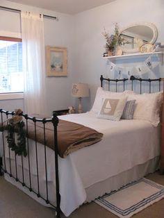 shelf high over bed