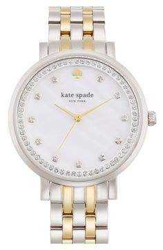 kate+spade+new+york+'monterey'+crystal+dial+bracelet+watch,+38mm+available+at+#Nordstrom