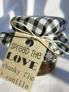 Mini Jam Jar Wedding Favours / Bonbonniere by LittleBowThief