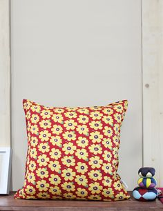 Daily Flowers Pattern # 2 Types Cotton Cushion Cover (Custom Cushion, Decorative Pillows, Pillow Case, Personalized cushion, Made in Canada) by MysGreenCom on Etsy